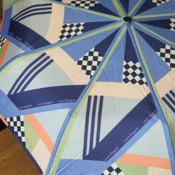 Modrý skladací dáždnik Laura Biagiotti