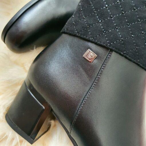 Členkové čižmy Laura Biagiotti Calf Black
