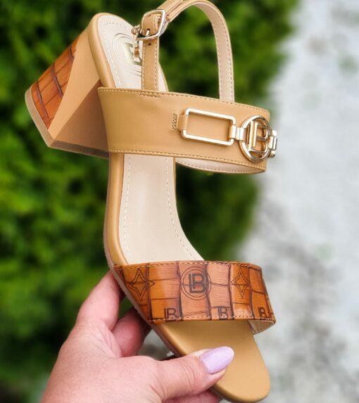 Sandále na podpätku Laura Biagiotti