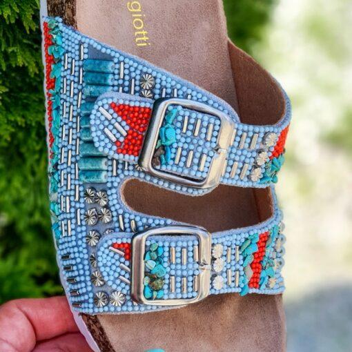 Dámske šľapky na korkovej podrážke Laura Biagiotti