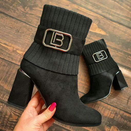 Členkové čižmy Laura Biagiotti čiernej farby
